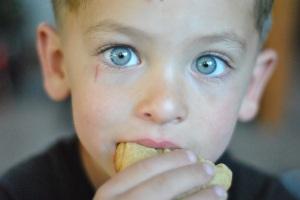 Josiah eating
